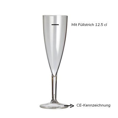 24 x SEKTGLÄSER Mehrweg aus Kunststoff ECO 13.5cl